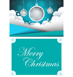 Merry christmas happy new year a4 template vector