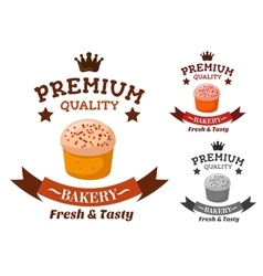 Premium bakery and pastry shop emblem vector image vector image