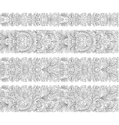 Set of vintage border brushes templates baroque vector