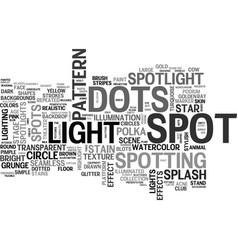 Spotting word cloud concept vector