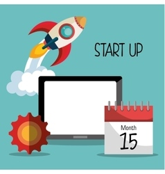 Start up business company vector