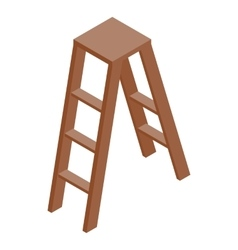 Stepladder icon isometric 3d style vector