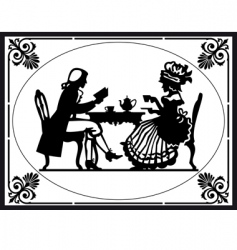 teatime vector image vector image
