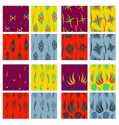 tribal hand drawn background ethnic pattern set vector image vector image