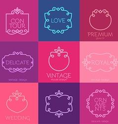 Vintage Frame Template Set vector image vector image