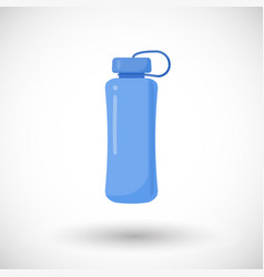 water bottle flat icon vector image