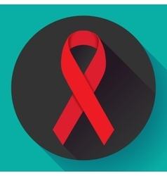 World Aids Day red ribbon 1 december awareness vector image