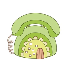 A telephone vector image