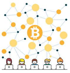 Bitcoin money translations people vec vector