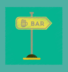 Flat shading style icon sign of bar vector