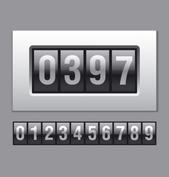 Counter display with numbers vector