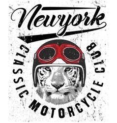 Animal tee vintage graphic design vector