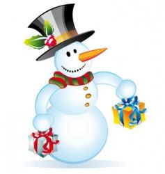 funny snowman vector image
