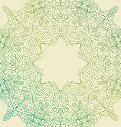 Circle lace hand-drawn ornament card ornamental vector