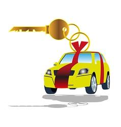 Sell car key vector image
