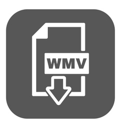 The wmv icon video file format symbol flat vector