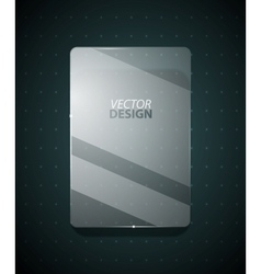 Transparent glass ad screen vector