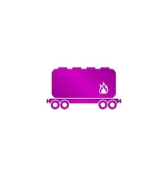 Railroad tank icon vector