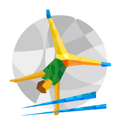 Artistic gymnastics with abstract patterns vector