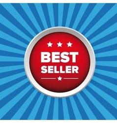 Best seller button vector