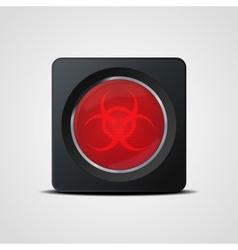 Biohazard icon vector image vector image