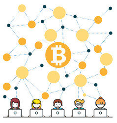 bitcoin money translations people vec vector image