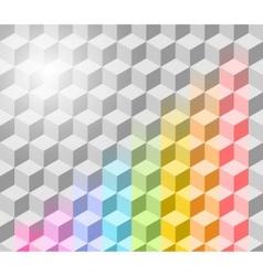 cubism background vector image