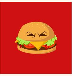 danger burger monster design vector image vector image