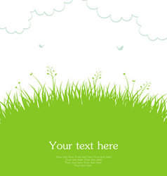 grass template vector image