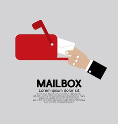 Mailbox Side View vector image vector image