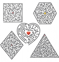 maze collection vector image