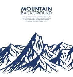 Mountain range isolated on white background vector