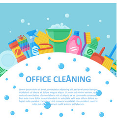 office cleaning professional service set vector image