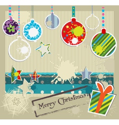 paper craft christmas vector image vector image