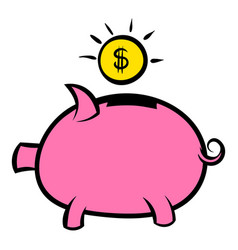 piggy bank icon icon cartoon vector image