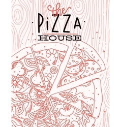 Poster pizza wood vector