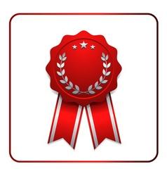 Ribbon award icon red 2 vector