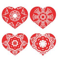 Romantic red heart set vector