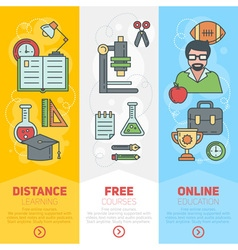 School banners templates vector