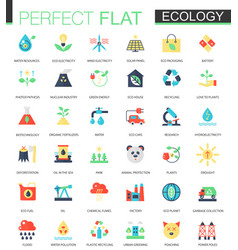set of flat green technology and ecology vector image vector image