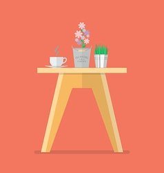 Side table in flat style vector image