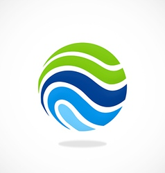 sphere ecology water communication logo vector image vector image