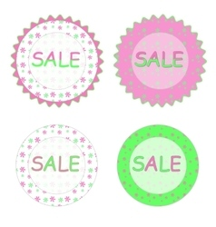 Spring sale labels vector image vector image