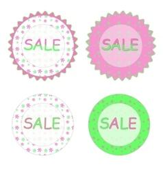 Spring sale labels vector image