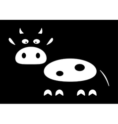 Stylized silhouette of a cow vector image