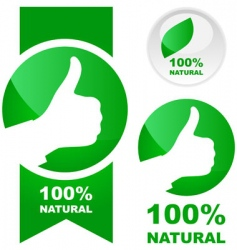100 natural vector image vector image