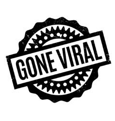 Gone Viral rubber stamp vector image