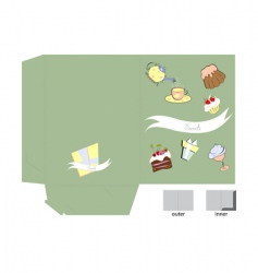 template for folder with sweets vector image