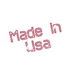 Made in usa rubber stamp vector