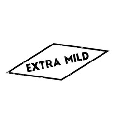 Extra mild rubber stamp vector